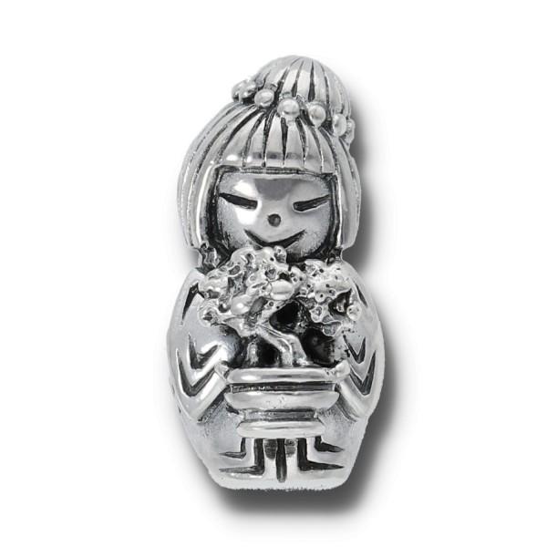 Spiritbeads Kokeshi Bonsai Silber