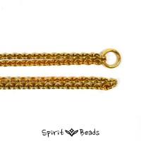 Spiritbeads Silberhalskette für Beads und Anhänger vergoldet