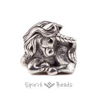 Spiritbeads Einhorn Silber