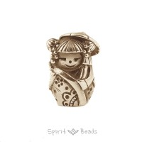 Spiritbeads Kokeshi Little Miss Sunshine Gold Limited Edition