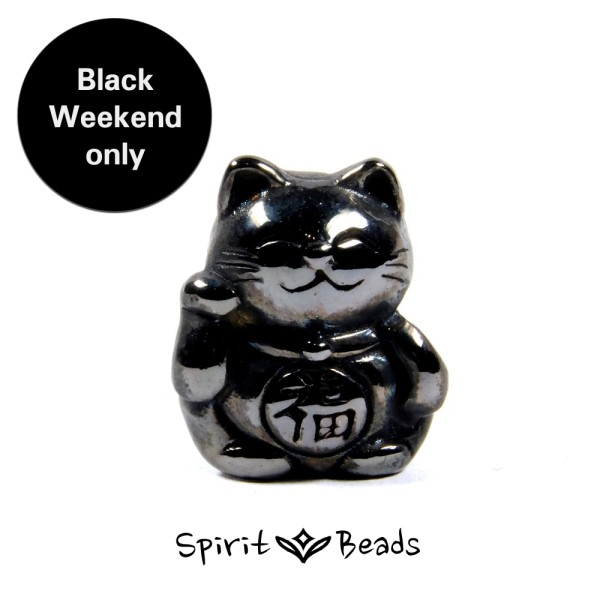 Spiritbeads Black Lucky Cat Limited