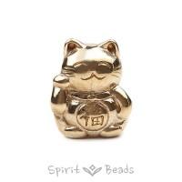 Spiritbeads Maneki-Neko Messing