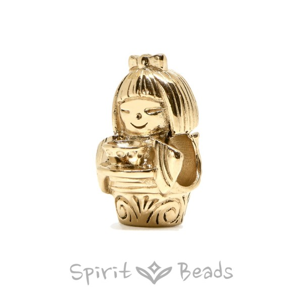 Spiritbeads Kokeshi's Tea Gold