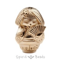 Spiritbeads Kokeshi's Fan Gold Limited Edition