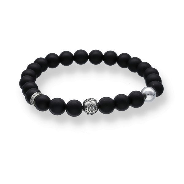Spiritbeads Beadsarmband matt Onyx Lotus