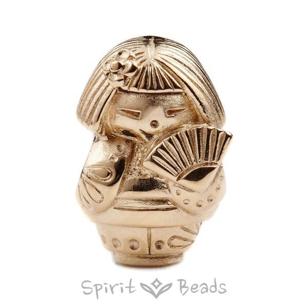 Spiritbeads Kokeshi's Fan Gold Limited Edition